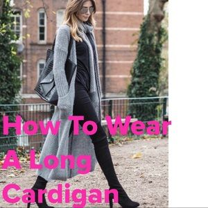 Other - Styling Tips When Wearing A Long Cardigan
